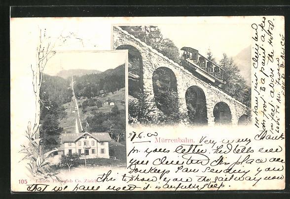 AK Mürrenbahn, Viadukt und Talstation