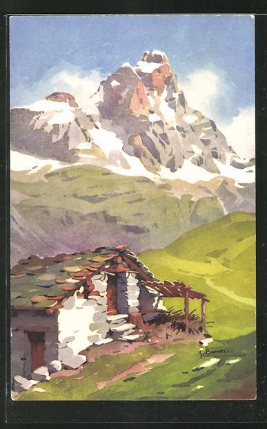 Künstler-AK S. Bonelli: Mont Ceryin