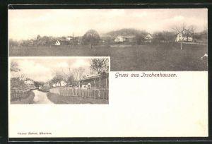 AK Irschenhausen, Strassenpartie im Dorf