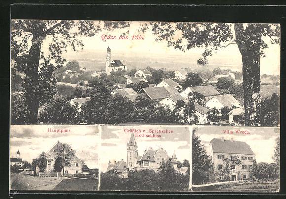 AK Pähl, Villa Wrede, Gräflich von Spretisches Hochschloss