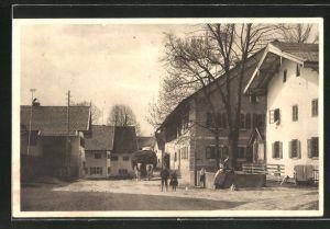AK Bayersoien, Strassenpartie im Dorf