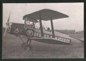 Fotografie Flugzeug, Doppeldecker mit Mickey Maus - Bemalung