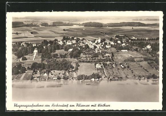 AK Hechendorf am Pilsensee, Ortsansicht mit Wörthsee