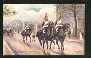 Künstler-AK Harry Payne: The Royal Horse Guards coming off Kings Guards