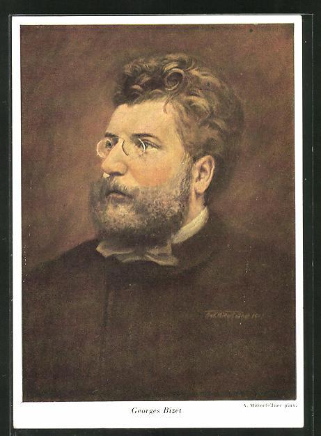 Künstler-AK A. Mitterfellner: Georges Bizet, Komponist