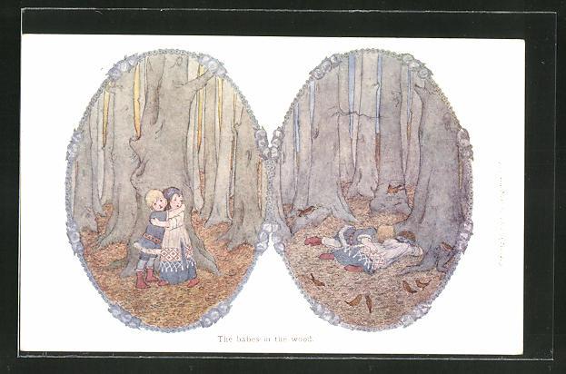 Künstler-AK Henriette Willebeek le Mair: The babes in the wood