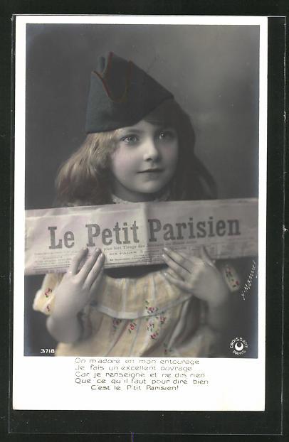 AK Junge mit der Zeitung