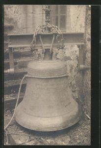 Foto-AK Stadtlengsfeld, Abhängen der Glocke zum Einschmelzen 1918