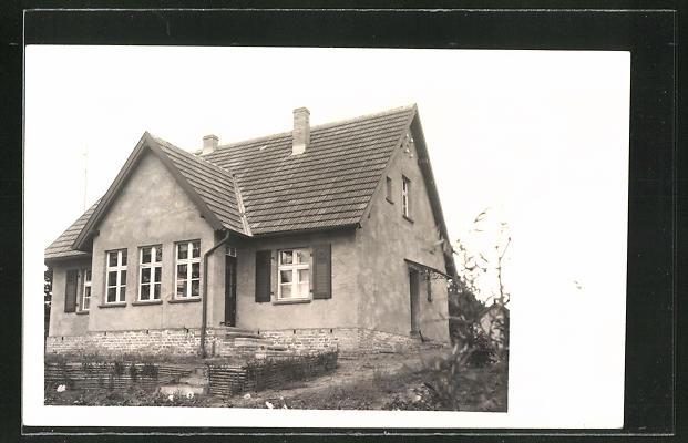 Foto-AK Zechlinerhütte, Partie am Haus Koska im Jahr 1929