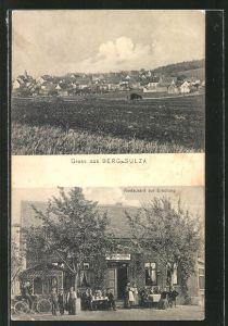 AK Berg-Sulza, Ansicht vom Restaurant zur Erholung, Ortsansicht