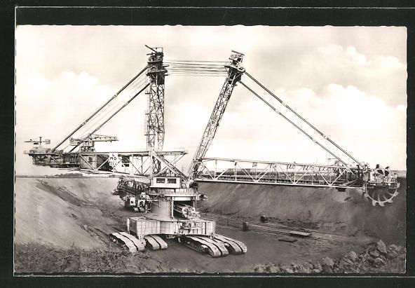 AK Bergheim-Erft, grösster Schaufelradbagger der Welt, Tagebau