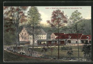 AK Wachau, Gasthaus Gräfl. Brühl'sche Marienmühle im Seifersdorfer Tal