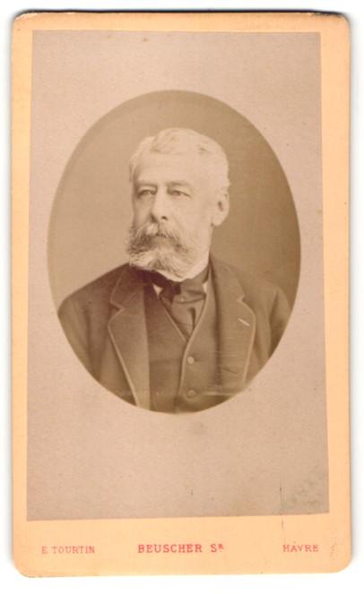 Fotografie E. Tourtin, Havre, Portrait Mann mit Vollbart
