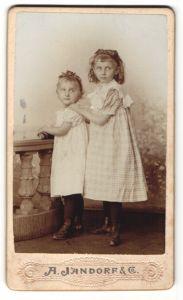 Fotografie A. Jandorf & Co., Berlin, Portrait Mädchen und kleine Schwester