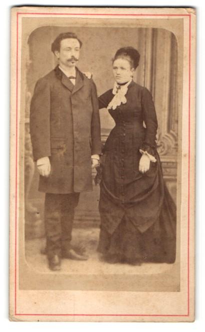 Fotografie Pestel, Paris, Portrait junges bürgerliches Paar
