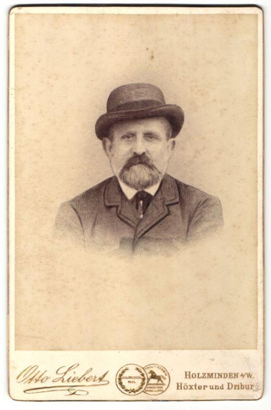 Fotografie Otto Liebert, Holzminden a/W, Höxter & Driburg, Portrait Herr mit Hut