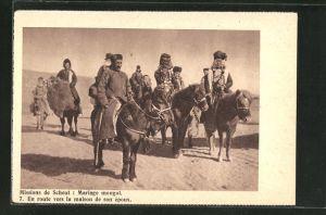 AK Mongolei, Missions de Scheut, Mongolische Hochzeit