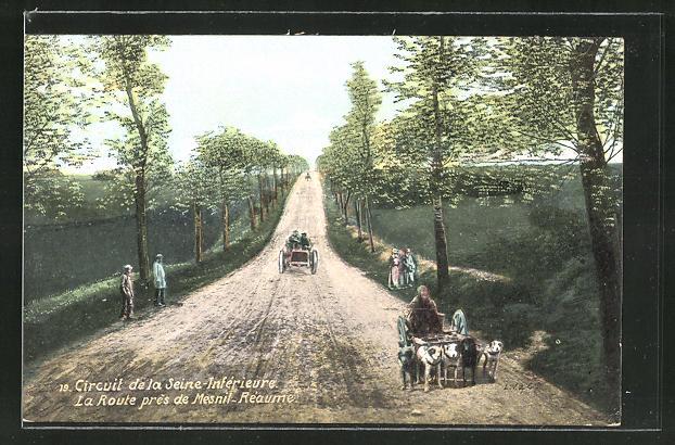 AK Circuit de la Seine-Inférieure, La route près de Mesnil-Réaume