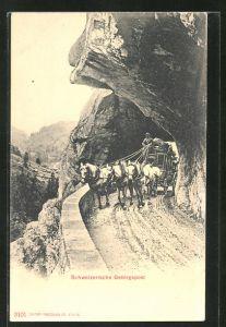AK Postkutsche Schweizerische Gebirgspost