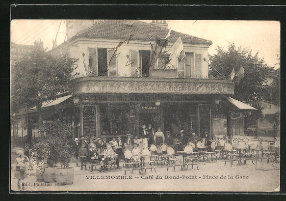 AK Villemomble, Cafe du Rond-Point, Place de la Gare