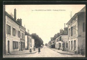 AK Villeneuve-sur-Yonne, Faubourg St-Savinien, Gendarmerie Nationale