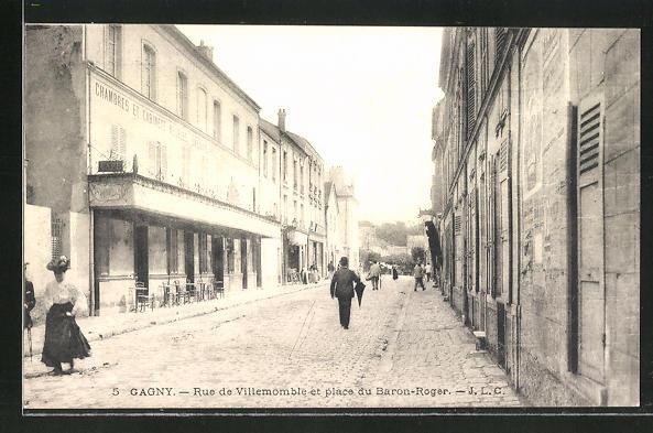 AK Gagny, Rue de Villemomble et Place du Baron-Roger