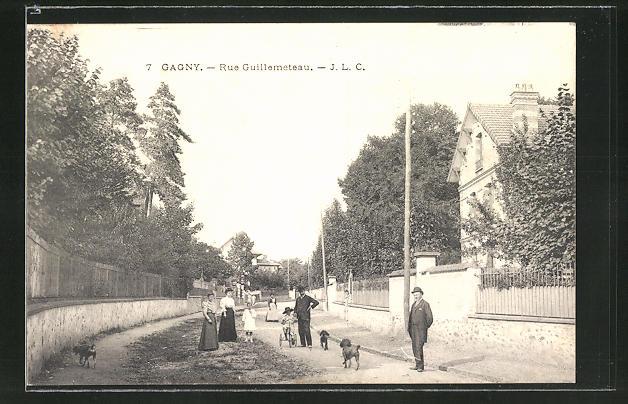 AK Gagny, Rue Guillemeteau, Strassenpartie