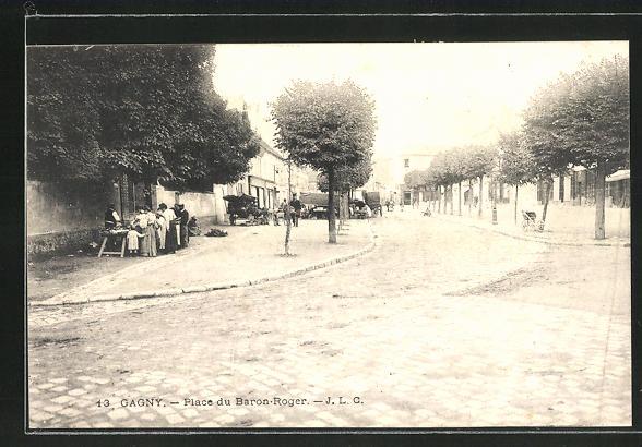 AK Gagny, Place du Baron-Roger