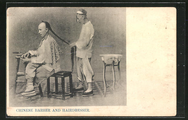 AK Chinesischer Friseur bei der arbeit