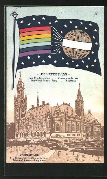 AK Haarlem, die Friedensfahne und der Friedenspalast, Friedensbewegung