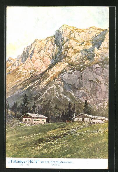 Künstler-AK Edward Theodore Compton: Berghütte