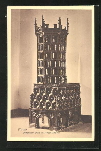 AK Füssen, Gothischer Ofen im Hohen Schloss
