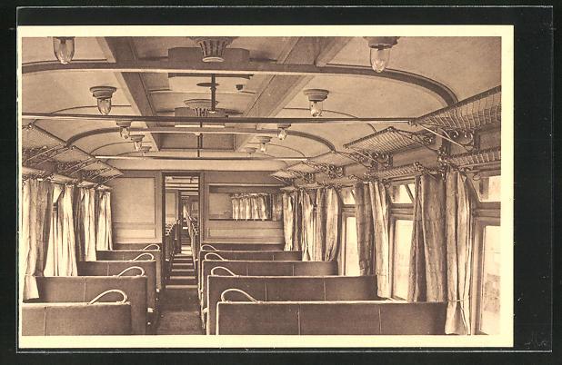 AK Train scolaire de Radio, Eisenbahn-Waggon, Innenansicht
