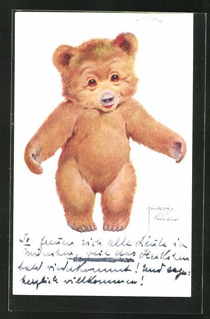 Künstler-AK Lawson Wood: Süsser Teddy möchte umarmt werden