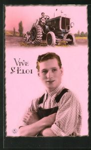 AK Vive St. Eloi, Landwirt auf seinem Traktor