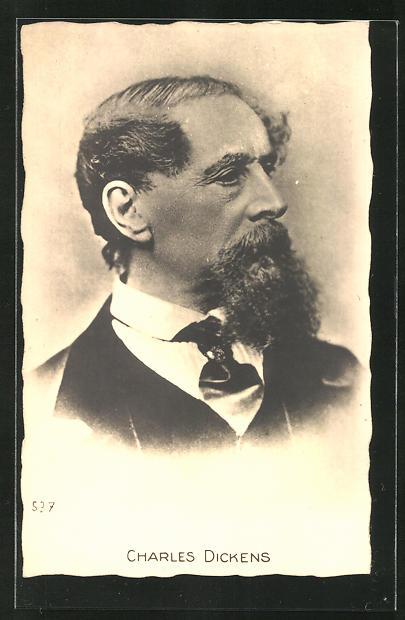 AK Portrait des Schriftstellers Charles Dickens