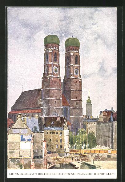 Künstler-AK Heinrich Kley: München, Erinnerung an die Freigelegte Frauenkirche
