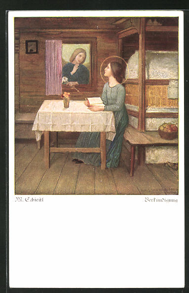 Künstler-AK Matthäus Schiestl: Verkündigung
