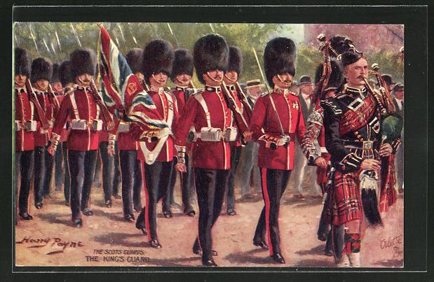 Künstler-AK Harry Payne: the Scots Guards, the King's Guard
