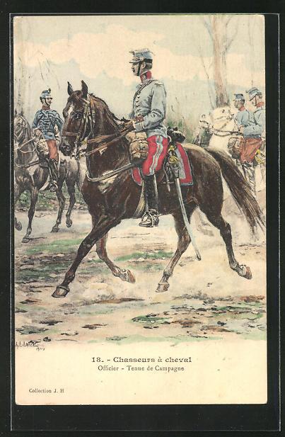 AK Chasseurs à cheval, Officier, Tenue de Campagne