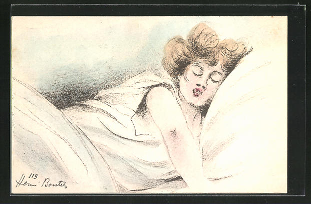Künstler-AK Henri Boutet: schlafende Dame