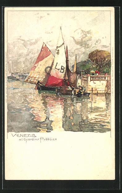Künstler-AK Manuel Wielandt: Venezia, Al Giardino Pupplico