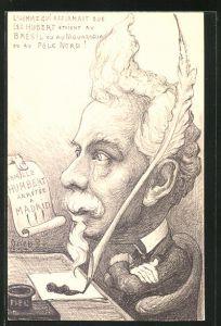 Künstler-AK Charles Denizard (Orens): L'Homme que les Hubert etaient au Bresil