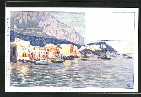 Künstler-AK Philipp + Kramer Nr. XXIII /4: Capri, Marina la Grande