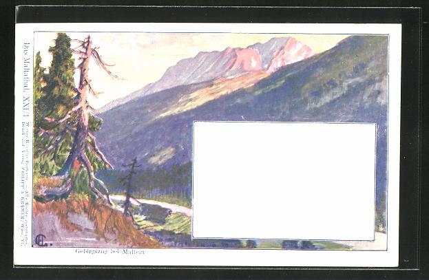 Künstler-AK Philipp + Kramer Nr. XXI /1: Gebirgszug bei Maltein