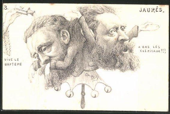 Künstler-AK Charles Denizard (Orens): Taufe von Jaurés,