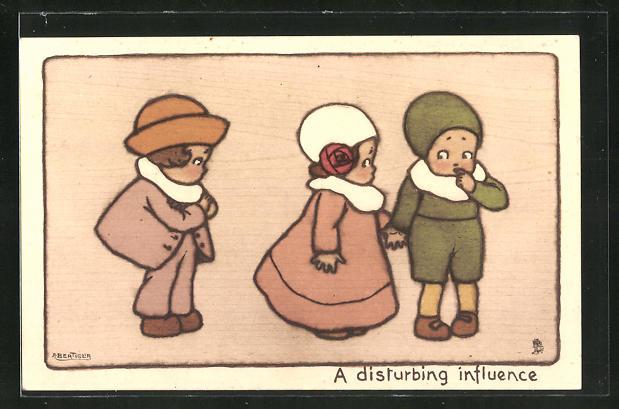 Künstler-AK A. Bertiglia: A disturbing influence
