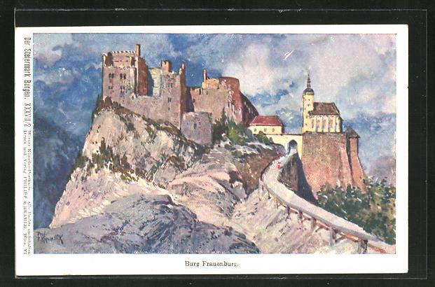 Künstler-AK Franz Kopallik: Burg Frauenburg in der Steiermark