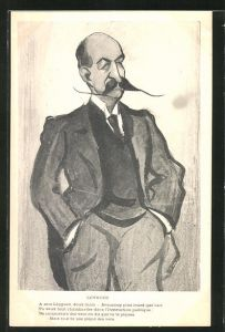 Künstler-AK Karikatur von Georges Leygues, französischer Politiker und Staatsmann