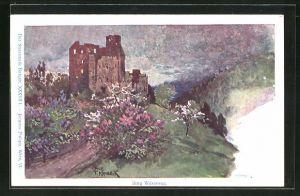 Künstler-AK Franz Kopallik, Philipp + Kramer Nr. XXXVII /1: Der Steiermark Burgen, Ansicht von Burg Waxenegg
